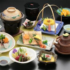 ◆【さき楽28】山や川の旬の恵みを贅沢に!夕食は〜里山会席〜【夕朝食付】