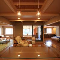 【禁煙・高層階】展望風呂付客室D(12畳+ツイン+リビング)