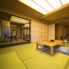 【禁煙・高層階】展望風呂付客室A(12畳+ツイン+リビング)