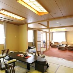 【特別室】(和室8畳+ツイン+リビングルーム)