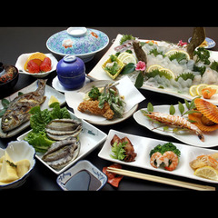 【あわびを食べて綺麗になろう】鮑2枚付海鮮料理≪1泊2食付≫【現金特価】