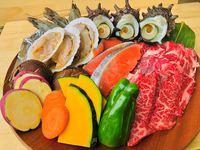☆【サザエ!ジャージ牛!有頭エビ!】お肉と海鮮のコラボ☆スペシャルBBQで贅沢に盛り上がろう♪