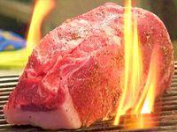 ☆ド迫力!【厚さ5センチ!岡山県産・黒毛和牛の1ポンド極厚ステーキ付き♪】