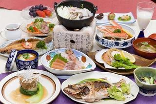 【楽天限定】アンコウ鍋とカニ付き♪お夕食料理豪華プラン♪地魚が旨い