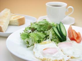 ボリュームにも満足! 選べる朝食セットプラン♪