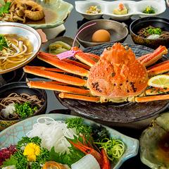 地どれタグ付きボイル松葉ガニと厚切りお刺身、ふかふか煮魚など日本海の鮮魚欲張りプラン!