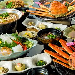 【さき楽】地どれタグ付きボイル松葉ガニと厚切りお刺身、ふかふか煮魚など日本海の鮮魚欲張りプラン!