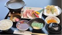 【2食付】上州牛・榛名もち豚・赤城鶏の陶板焼御膳と朝食付