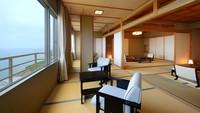 【禁煙】☆最上階☆日本海を一望〜特別和洋室(バス・トイレ付)