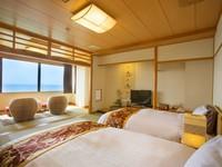 【天空】和洋室/最上階の広い贅沢なラタン・ソファ付き 特別室