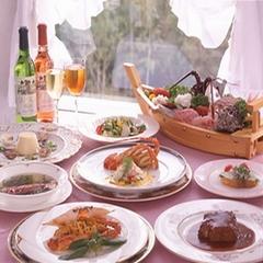 ◆新鮮な魚介類で頂く東京銀座で20年のコック経験を積んだオーナーシェフのコース料理1泊2食付