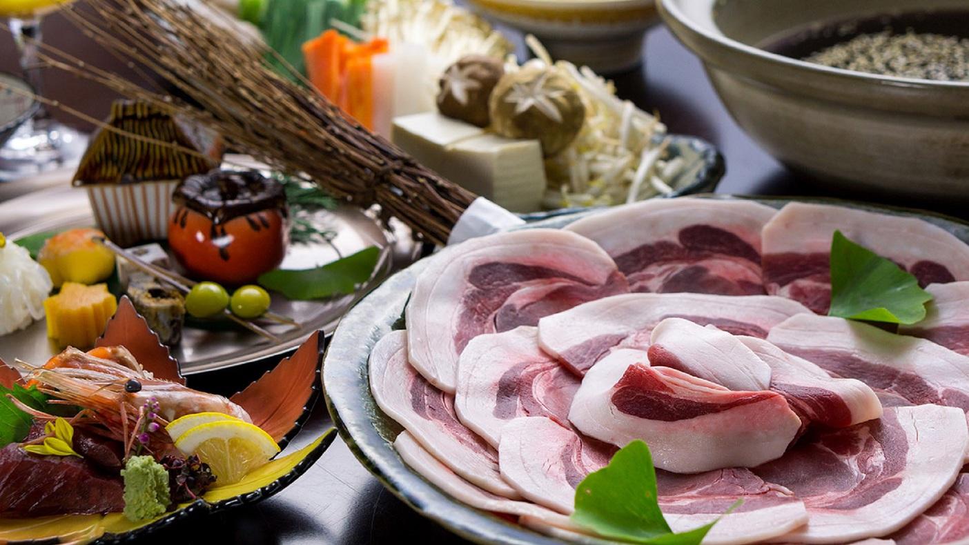 ジビエ!日本三大猟場【丹波篠山の猪肉】を有馬山椒香る特製味噌だしで楽しむ牡丹鍋プラン♪