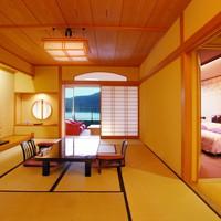 おしどりの池を望む【和洋室】和室+洋室+ツインベットルーム