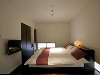 檜風呂付メゾネット(1階ベットルーム・2階リビングスペース)