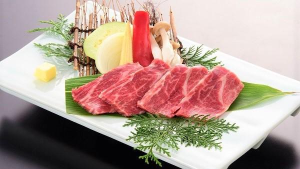 【一品グレードアップ×阿蘇五岳プラン】夕食を贅沢に★赤牛(ロース4枚)へランクアップ♪(2食付)