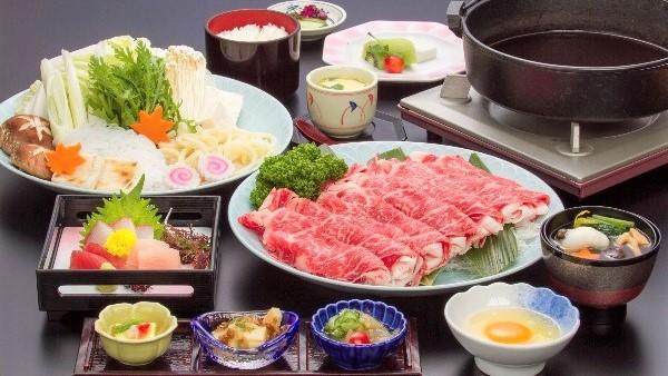 【冬限定/熊本ブランド牛】冬はお鍋であったまろ♪阿蘇の赤牛で満腹★牛すき焼きプラン(2食付)