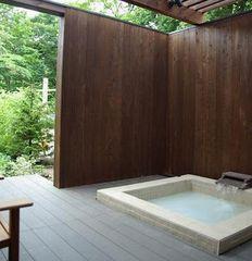 温泉露天風呂、オープンデッキ、マッサージチェア