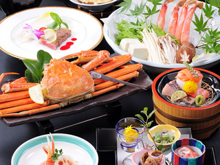 ぜいたくプラン・あわび・和牛ステーキ・ずわい蟹付き[20150104]一泊二食付