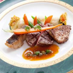 【最上級Dinner&4種類のセレクトワイン】☆2つのレストランから選べるディナー☆