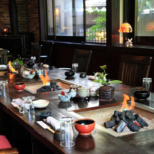 囲炉裏で【炭火焼コース】プラン 阿蘇の四季スタンダード2食付
