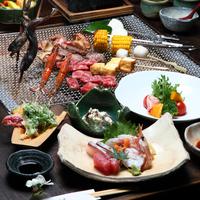 囲炉裏で【炭火焼グルメ】プラン ※旬の海鮮と自家製のお米付き※2食付