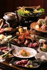 囲炉裏で【炭火焼贅沢】プラン ※丸ごと豪快に伊勢海老&タラバ蟹と自家製のお米付き※2食付