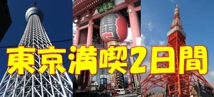 「現金特価」 東京観光満喫プラン適用日限定2連泊で5,800円なんと1泊当たり2,900円