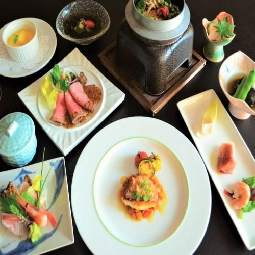 【秋の和洋会席】グレードアップ!白身魚のポアレ&かに茶碗蒸しが付いた◎彩り満載!満足料理♪