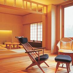 モール温泉ひのき風呂付客室と旬の創作和食懐石