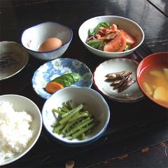 ◆朝食付◆体にやさしいをモットーに、自家栽培・無農薬野菜中心の和食膳<お部屋食>
