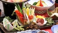 <山の宿スタンダードコース>明治温泉の一番人気!彩り豊かな信州の高原野菜盛り付【冷蔵庫ドリンク無料】