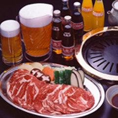 【グルメ】好評ジンギスカン食べ放題&ビール飲み放題☆禁煙室☆