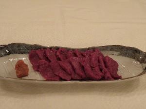ジューシーな馬刺しを特製辛味噌で!貸切露天風呂も楽しめる地元食材使用二食付プラン