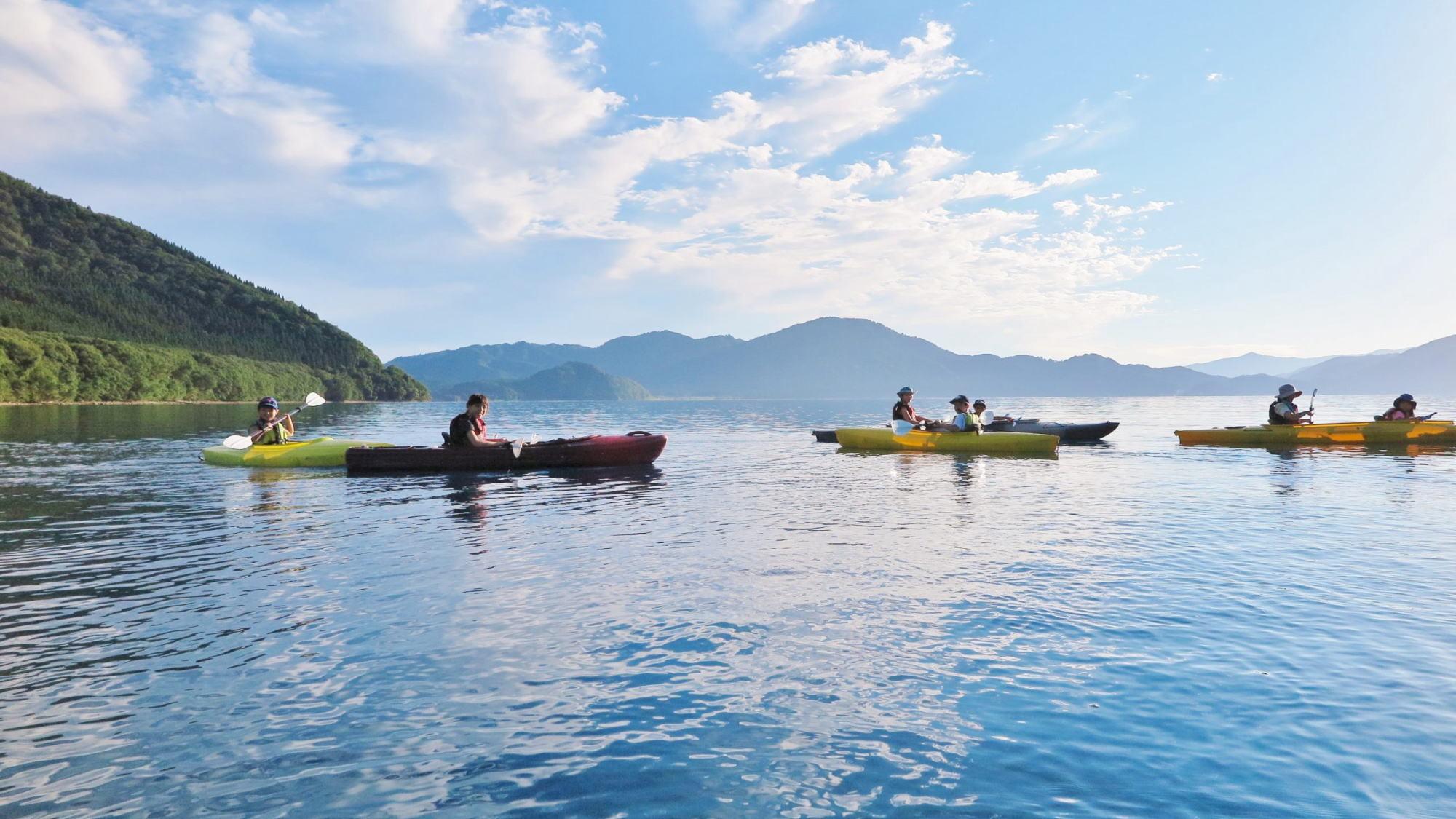 【田沢湖カヤックツアー体験付き!】田沢湖の大自然を満喫♪ご夕食は秋田の郷土バイキング