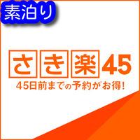 【さき楽45】☆ADVANCE 45☆早期予約でお得に宿泊(素泊り)