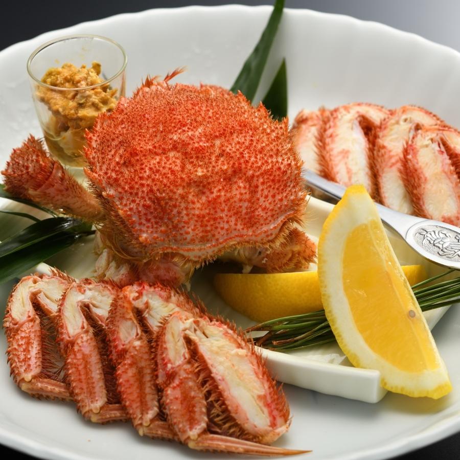 ◆【夕食は贅沢に】毛蟹1杯付♪地元食材にとことんこだわった季節の山海会席〜竹コース〜【夕朝食付】