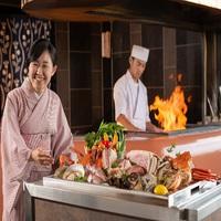 和牛・アワビ特選素材の特別コース『金の波』☆海鮮炭火焼料理