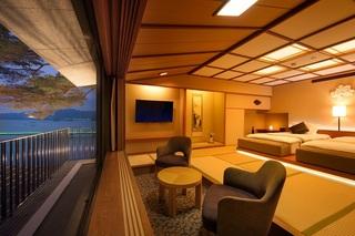 コーナースイート『ベッドのある美窓の和室 仙台萩』
