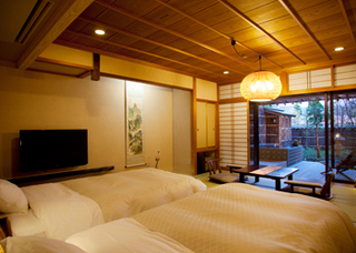 庭付き・露天風呂付ツイン客室(12畳)