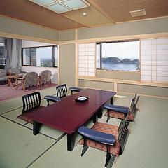 【温泉】坪庭露天付特別室(内風呂付、12畳和室+洋間)
