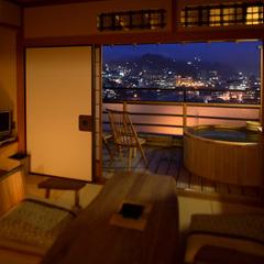 街絶景ランキング1位の露天風呂付き客室