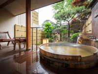 a【源泉かけ流し特別室】デラックス庭園露天風呂付客室