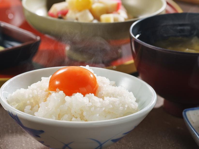 朝食◆食べ過ぎ注意♪超濃厚卵+2年熟成醤油=【究極のTKG】と【新潟タレカツ】が大人気(夕食なし)