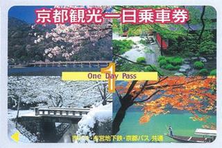 ◆京都観光応援プラン◆京都地下鉄、市バス、1日乗車券付き!!