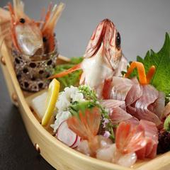 【お刺身舟盛り】富山湾きときとなお刺身舟盛り&四季彩り会席プラン