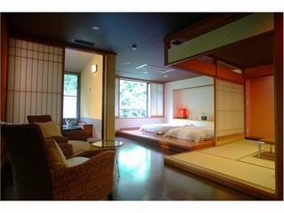 温泉スイート『六庄庵201号室』(露天風呂付客室96平米)