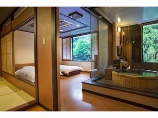 温泉スイート『六庄庵202号室』(露天風呂付客室73平米)