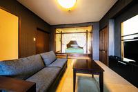 【露天風呂付客室】44平米バリ風 天蓋付きベッド&リビング