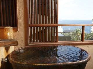 【露天風呂付客室】42平米和室 潮風が気持ちいいデッキ付き