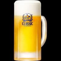 【90分飲み放題付き】2種類の生ビール飲み放題付★バイキング